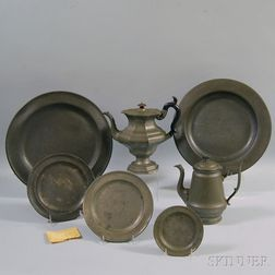 Seven Pieces of Pewter