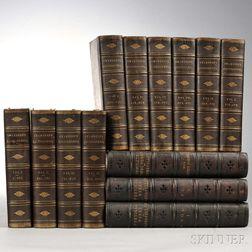 Decorative Bindings, Sets, Longfellow and Chambers, Thirteen Volumes.