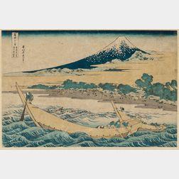Katsushika Hokusai (1760-1849), Shore of Tago Bay, Ejiri at Tokaido