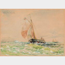 Continental School, 19th Century    Sailing Vessels