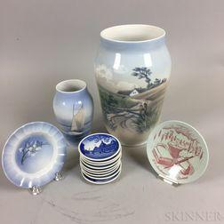 Thirteen Pieces of Danish Ceramics