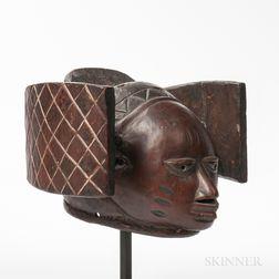 Yoruba Gelede Helmet Mask