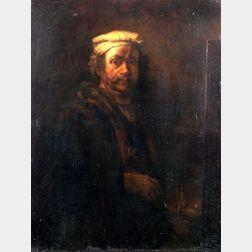 After Rembrandt van Rijn (Dutch, 1606-1669)    Self-Portrait at the Easel.