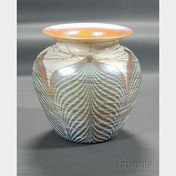 Durand Decorated Iridescent Vase