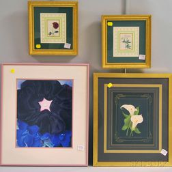Five Framed Floral Prints