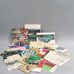 Small Collection of Automobilia and Booklets