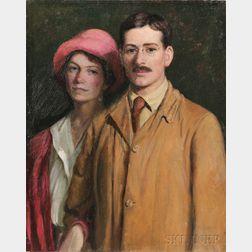 Lilla Cabot Perry (American, 1848-1933)      Portrait of Edith Perry Ballantine and Edward Ballantine