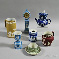Eight Wedgwood Jasper Items