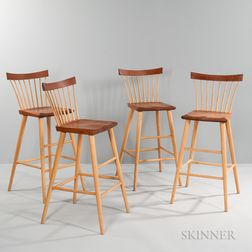 Four Thomas Moser Eastward Stools