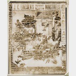 Walker Evans (American, 1903-1975)       Minstrel Show Bill, Alabama