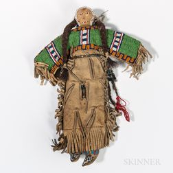 Plains Indian Beaded Hide Doll
