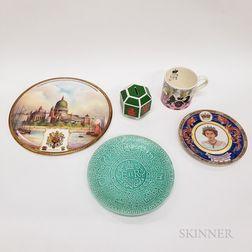 Five Modern British Commemorative Items