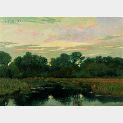 Arthur Hoeber (American, 1854-1915)      Eventide