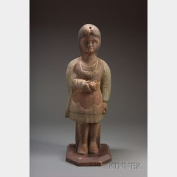 Carved and Painted Countertop Cigar Store Indian Figure