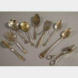 Nine Silver and Silver-plated Serving Pieces