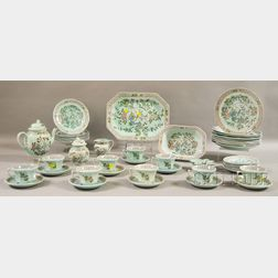 """Approximately Forty-nine Pieces of Adams Calyx Ware """"Singapore"""" Ironstone   Dinnerware"""