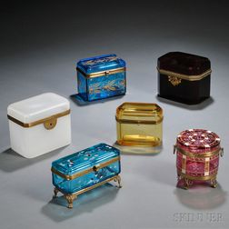 Six Glass Dresser Boxes