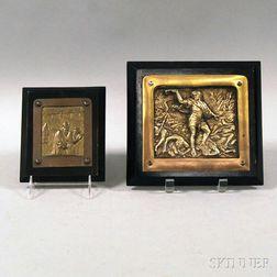 Two Bezalel Brass Plaques