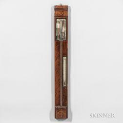 Charles Chevalier Inlaid Mercury Stick Barometer