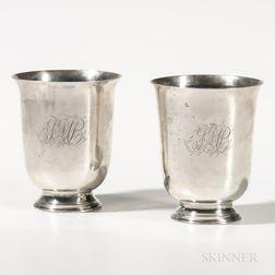 Pair of Silver Beakers