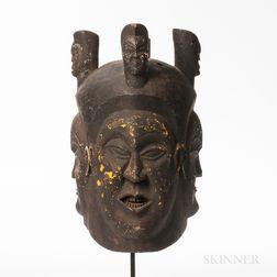 Bangwa Royal Society Helmet Mask