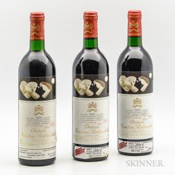 Chateau Mouton Rothschild 1986, 3 bottles