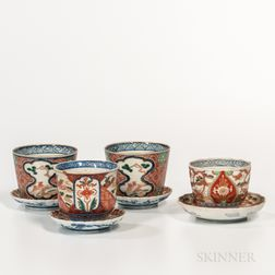 Eight Imari Cups and Dishes