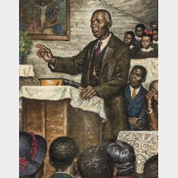 Amos Sewell (American, 1901-1983)      A Christmas Sermon