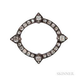 Antique Diamond Circle Brooch