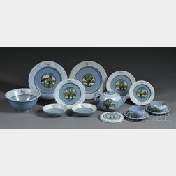 Set of Fourteen Paul Revere Pottery Table Items