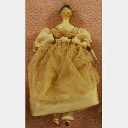 Wooden Dollhouse Doll