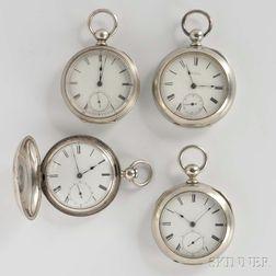Four Waltham Key-wind Watches