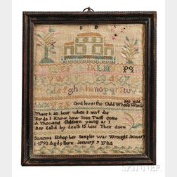 Needlework Alphabet and Verse Sampler