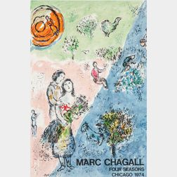 Marc Chagall (Russian/French, 1887-1985)      The Four Seasons, Chicago
