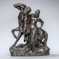 After Reinhold Begas (German, 1831-1911)       Bronze Figure of a Centaur and Nymph