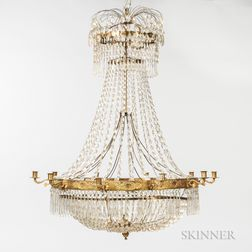 Neoclassical-style Crystal Chandelier