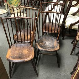 Four Bamboo-turned Windsor Side Chairs.     Estimate $150-250