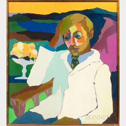 Elaine Wing (American, b. 1931)      Portrait of Carl Crossman.