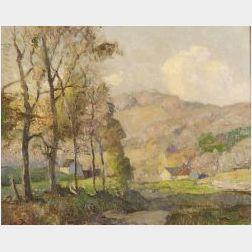 William Jurian Kaula (American, 1871-1953)  Distant Farm, Spring