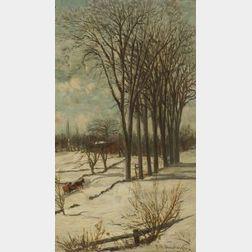 Frank Henry Shapleigh (American, 1842-1906)  Winter, Lebanon, Maine