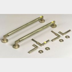 Adolph Mayer and Walter Gropius/Bauhaus Nickel Plated Brass Hardware