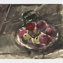 David Kapp (American, b. 1953)    Still Life with Apples.