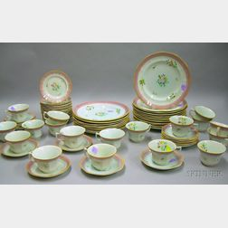 Seventy-seven Piece Adams Calyx Ware Partial Dinner Set.
