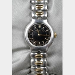 """Lady's 18kt Gold and Stainless Steel """"Tesoro"""" Wristwatch, Tiffany & Co."""