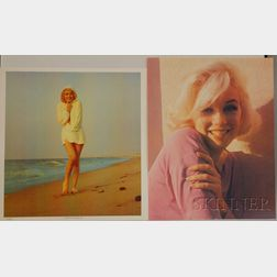After George Barris (American, b. 1928)      Two Images of Marilyn Monroe:  Head Shot