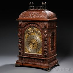 Carved Mahogany Chime Clock