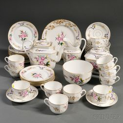 Group of Old Paris Porcelain Gilt and Floral-decorated Teaware Items