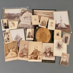 Eight Carte-de-visites, and Twelve Cabinet Cards, all Civil War Related