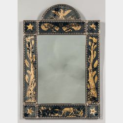 Eglomise-panel Mirror with American Iconography
