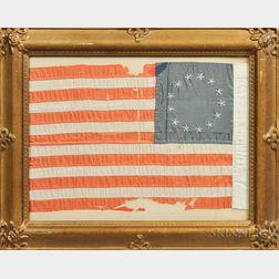 Thirteen-star Hand-stitched Silk Flag